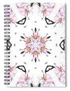 Delicate Cherry Blossom Fractal Kaleidoscope Spiral Notebook