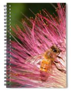 Delicate Embrace - Bee And Mimosa Spiral Notebook