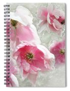 Delicate Tree Peonies Branching Out Spiral Notebook