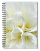 Delicate White Softness Spiral Notebook