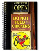 Delicious Chicken Dinners Sign Spiral Notebook