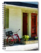 Delivery Bicycle By Two Red Doors Spiral Notebook