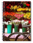 Delivery Bikes At Flower Market Spiral Notebook