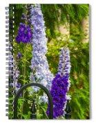 Delphinium 2 Spiral Notebook