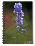 Delphinium Blossom Spiral Notebook