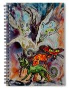 Demon Cats Haunted Spiral Notebook
