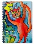 Demon Cats Reach Spiral Notebook