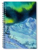 Denali Night In Square Spiral Notebook
