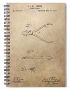 Dental Pliers Patent Design Spiral Notebook