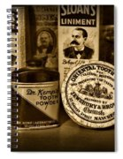 Dentist  -  Tooth Powder And More In Black And White Spiral Notebook