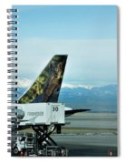 Denver Airport With Rockies In Background Spiral Notebook