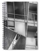Denver Diagonal Lines Bw Spiral Notebook