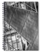Denver Diagonals Bw Spiral Notebook
