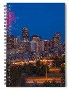 Denver Skyline Fireworks Spiral Notebook