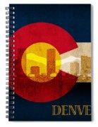 Denver Skyline Silhouette Of Colorado State Flag Canvas Spiral Notebook