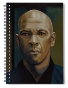 Denzel Washington In The Equalizer Painting Spiral Notebook