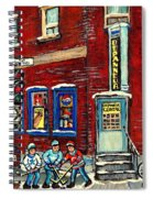 Depanneur Centre Pointe St Charles Montreal Verdun Paintings Hockey Art City Scenes Cspandau Spiral Notebook