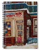 Depanneur Kik Cola Montreal Spiral Notebook