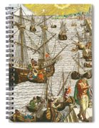 Departure From Lisbon For Brazil Spiral Notebook