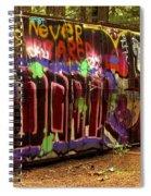 Derailed Along The Cheakamus Spiral Notebook