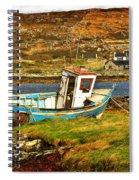 Derelict Fishing Boat On The Irish Coast Spiral Notebook