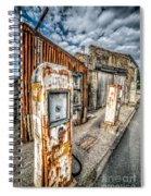 Derelict Gas Station Spiral Notebook