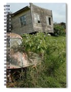 Derelict Morris And Old Truck On An Abandoned Farm Spiral Notebook
