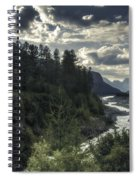 Desaturated Mountainscape Spiral Notebook