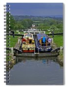 Descending Caen Hill Locks Spiral Notebook