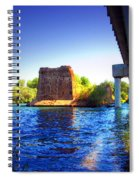 Deschutes Bridge  Anderson Ca  Watercolor   Spiral Notebook