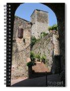 Desert Alley In San Gimignano Spiral Notebook