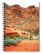 Desert Hiking Among The Sandstones Spiral Notebook