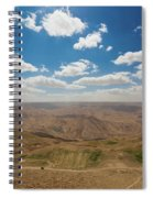 Desert Landscape By The Tannur Dam Spiral Notebook