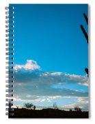 Desert Landscape Silhouette Spiral Notebook
