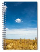 Desert Landscape With Deep Blue Sky Spiral Notebook