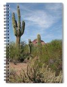 Desert Landscape With Saguaro Spiral Notebook