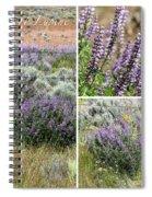Desert Lupine Collage Spiral Notebook