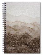 Desert Mountain Mist Original Painting Spiral Notebook