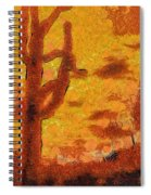 Desert Sunset Photo Art 04 Spiral Notebook