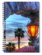 Desert Sunset View Spiral Notebook