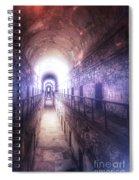 Deserted Prison Hallway Spiral Notebook