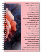 Desiderata Coral Rose Sidebyside Spiral Notebook