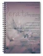 Desiderata - Dandelion Tears Spiral Notebook