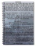 Desiderata Farm Spiral Notebook