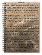 Desiderata Military Spiral Notebook