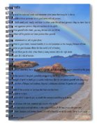 Desiderata On Beach Scene With Rainbow Spiral Notebook