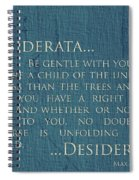 Desiderata On Canvas Spiral Notebook