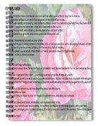 Desiderata On Garden Scene With Pink Roses Spiral Notebook
