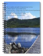 Desiderata On Pond Scene With Mountains Spiral Notebook