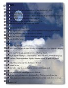 Desiderata On Sky Scene With Full Moon And Clouds Spiral Notebook